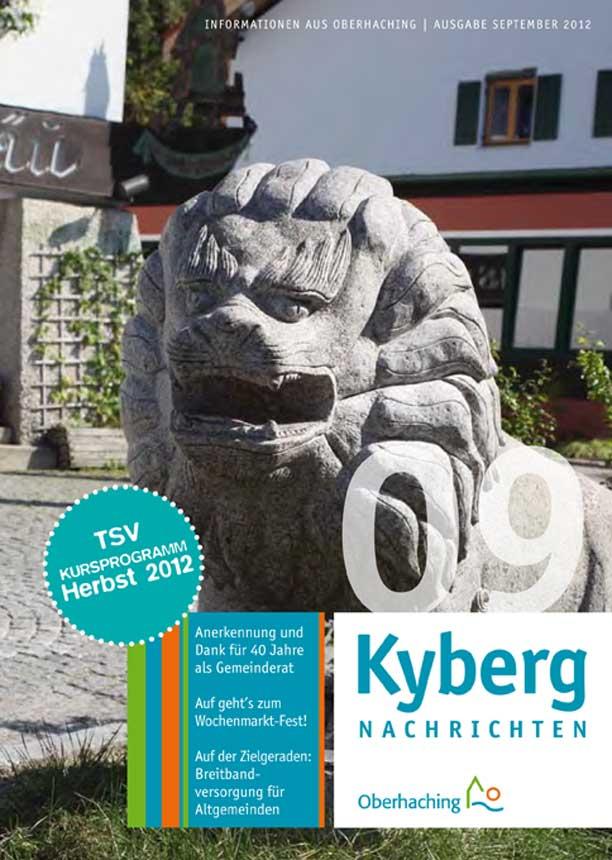 Kybergnachrichten September 2012 Titelbild