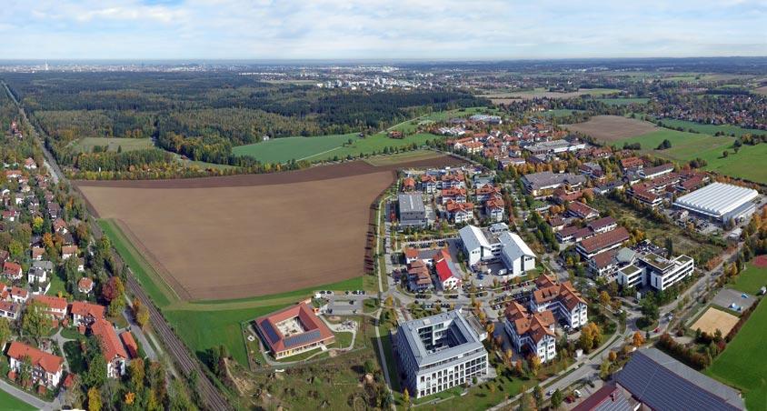 Luftbild vom Gewerbegebiet