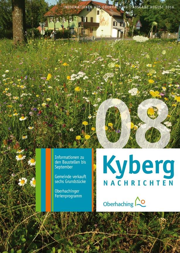 Titelseite Kybergnachrichten August 2016