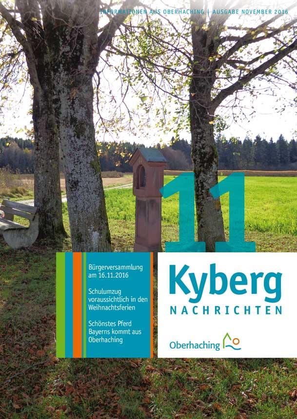 Titelseite Kybergnachrichten November 2016