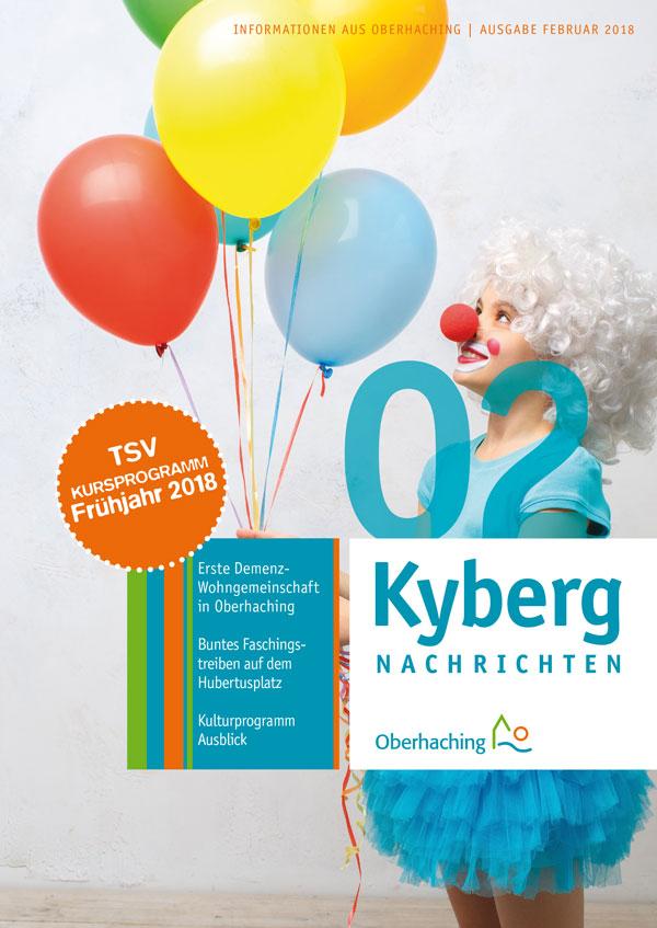 Titelseite Kybergnachrichten Februar 2018