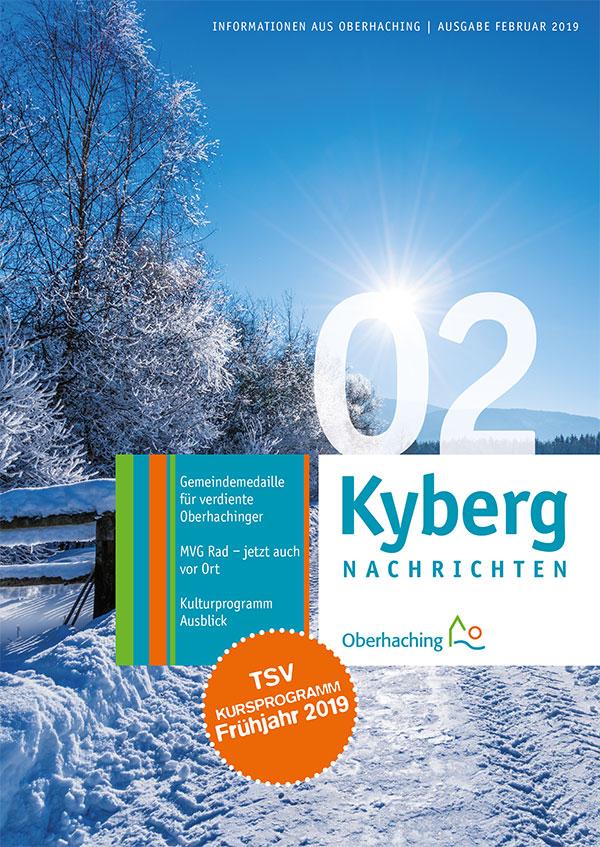Titelseite Kabergnachrichten Februar 2019