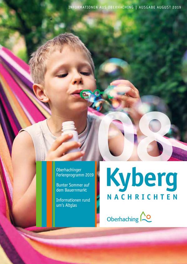 Titelseite Kabergnachrichten August 2019