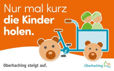 Logo der Radkampagne: nur mal kurz die Kinder holen