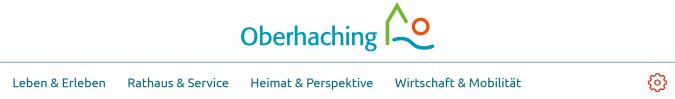 Logo und Menü der Gemeinde Oberhaching