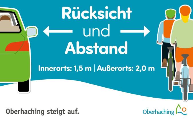 Abstand Radl und Auto Radkampagne