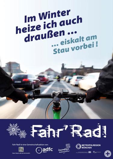 Plakat Radln auch im Winter