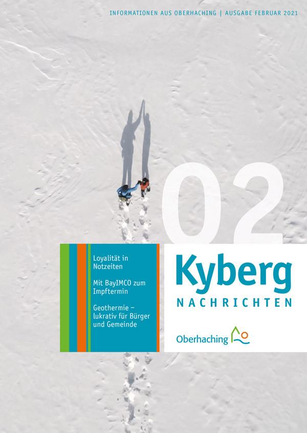 Titelseite der KybergNachrichten Februar 2021