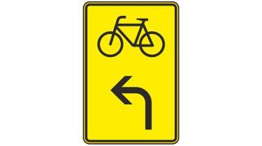 Schild Verlauf des Radwegs