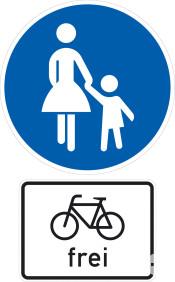 Schild Fahrrad Frei