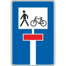 Verkehrszeichen fuer eine durchlässige Sackgasse