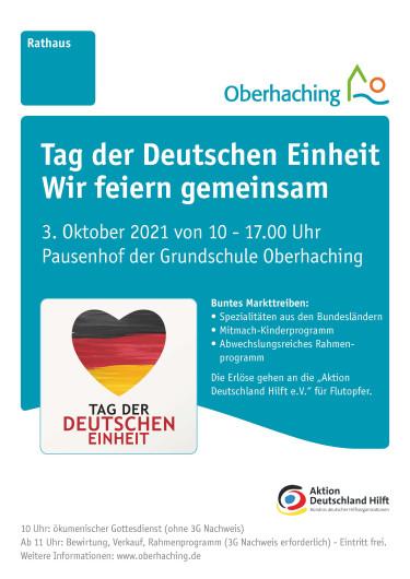 Poster zur Veranstaltung am 3. Oktober