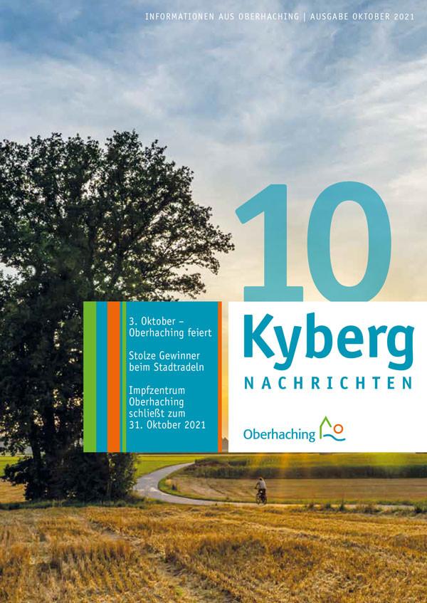 Titelbild der Oktober Ausgabe der Kyberg Nachrichten